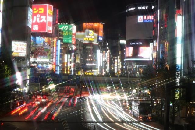 新宿大ガード夜景